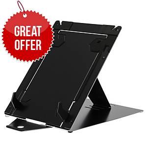 R-Go RGORIDUOBL Adustable Riser Duo Tablet & Laptop Stand Aluminium Black