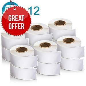 DYMO Label Writer Address Label Roll 28x89mm - Pack Of 12