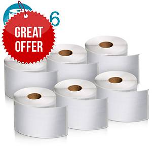 DYMO Label Writer Shipping Label Roll 54x101mm - Pack Of 6