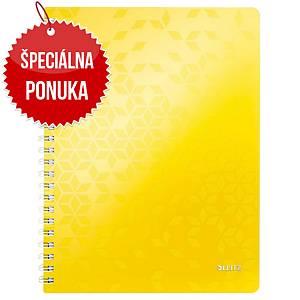Leitz WOW linajkový zápisník A4, žltý