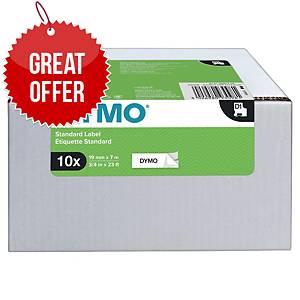 DYMO D1-Tape Black on White 19mm x 7m - Pack Of 10