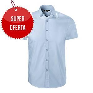 Koszula męska z krótkim rękawem MALFINI Dynamic 260, jasnoniebieska, rozmiar L