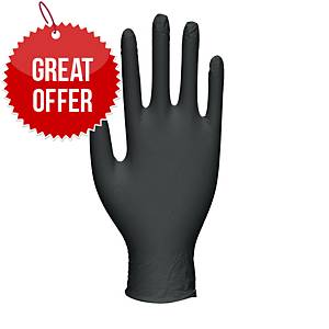Select GT0023 Latex Gloves Medium Black - Pack Of 100