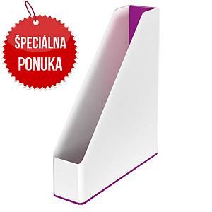 Dvojfarebný stojan na časopisy Leitz WOW, biely/fialový