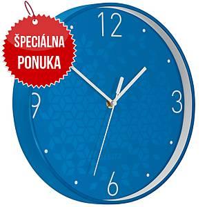 Nástenné hodiny Leitz WOW, modré