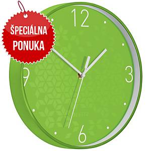 Nástenné hodiny Leitz WOW, zelené