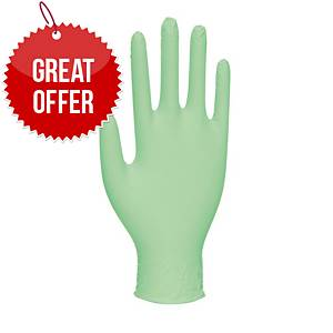 Vitality GD0013 Mint-Scented Gloves Medium Green - Pack Of 100