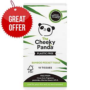 Cheeky Panda Pocket Tissues Plastic-Free Bamboo 10-Sheet