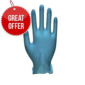 Unicare GS0084 Vinyl Food-Grade Gloves Large Blue Large - Pack Of 100