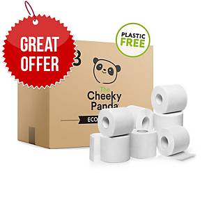 Cheeky Panda Toilet Roll Plastic-Free Bamboo - Pack Of 48