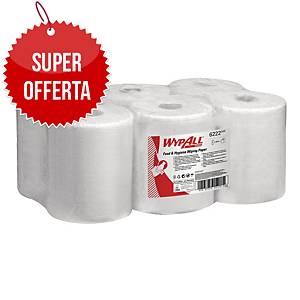 Panno carta in rotolo Wypall Reach estrazione centrale 1 velo bianco - conf. 6