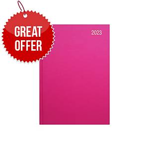 Lyreco A5 Diary Deep Pink - Page a Day