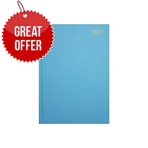 Lyreco A5 Diary Light Blue - Page a Day