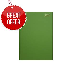 Lyreco A5 Diary Lime Green - Page a Day