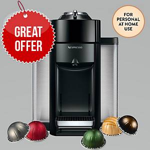 Nespresso Vertuo Machine and Capsules Bundle – for home use