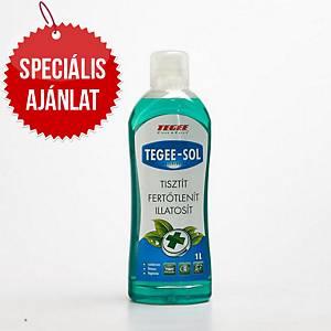 Tegee-Sol, fertőtlenítő és szagtalanító folyékony tisztítószer koncentrátum, 1 l
