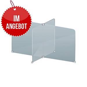 Tischtrenner Schutzscheibe für 4 Personen GSW4 X-Form