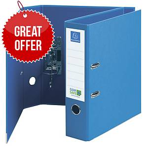 Exacompta Cleansafe Lever Arch File 70mm Blue