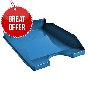 Exacompta Cleansafe Letter Tray Blue