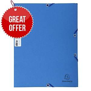 Exacompta Cleansafe 3 Flap Folder A4 Blue - Pack of 5