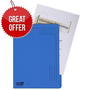 Exacompta Cleansafe A4 Slip files Blue - Pack of 5