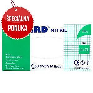 Jednorazové nitrilové rukavice ADVENTA NUGARD®, veľkosť XL, 100 kusov