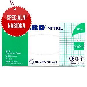 Jednorázové nitrilové rukavice ADVENTA NUGARD®, velikost XL, 100 kusů