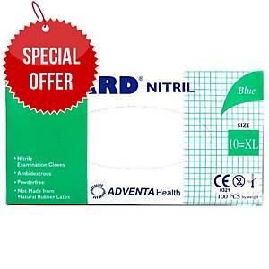 ADVENTA NUGARD® disposable nitrile gloves, size XL, 100 pieces