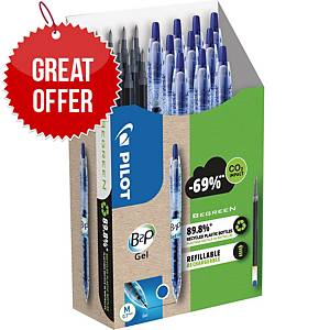 Pilot B2P Gel 10 pens + 10 Refills Value Pack Blue