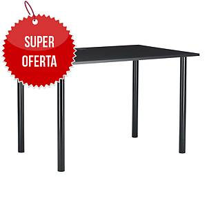 Biurko komputerowe NOWY STYL Inter, 120 x 80 cm, czarne