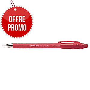 STYLO BILLE PAPERMATE FLEXGRIP ULTRA RETRACTABLE POINTE 1 MM ROUGE