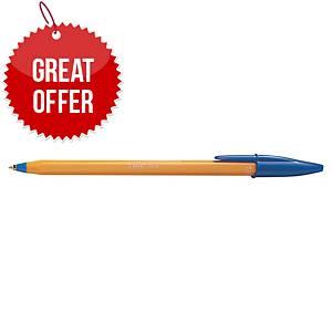 Bic Cristal Ball Point Blue Pens 0.5mm Line Width - Box of 20
