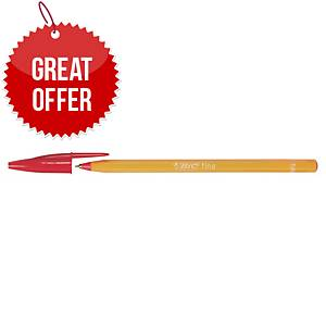 Bic Cristal Ball Point Red Pens 0.5mm Line Width - Box of 20