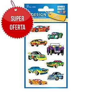 Naklejki dla dzieci AVERY Z-Design samochody, 27 sztuk