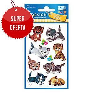 Naklejki dla dzieci AVERY Z-Design kotki, 30 sztuk