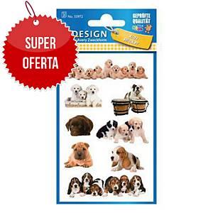 Naklejki dla dzieci AVERY Z-Design szczeniaczki, 24 sztuki