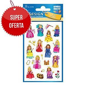 Naklejki dla dzieci AVERY Z-Design księżniczki, 57 sztuk