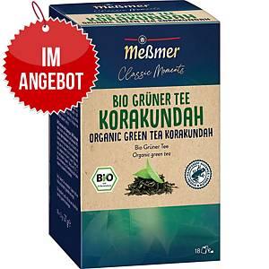 Messmer Bio Tee Grüntee Korakundah, 18 Stück