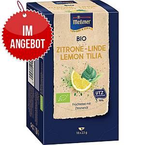 Messmer Bio Tee Zitrone-Linde, 18 Stück