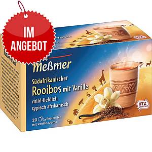 Messmer Tee Südafrikanischer Rooibos Vanille, 20 Stück