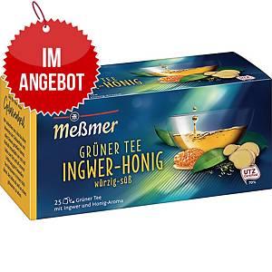 Messmer Grüner Tee Ingwer-Honig, 25 Stück