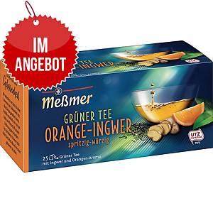 Messmer Grüner Tee Orange-Ingwer, 25 Stück