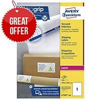 Avery L7167-100 Labels, 199.6 x 289.1 mm 1 Label Per Sheet, 100 Labels Per Pack