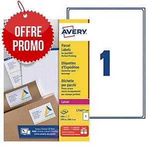 Etiquette expédition Avery - L7167-100 - 199,6 x 289 mm - blanche - par 100