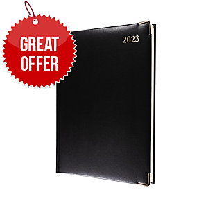 COLLINS CLASSIC MANAGER EXECUTIVE DIARY BLACK - WEEK TO VIEW