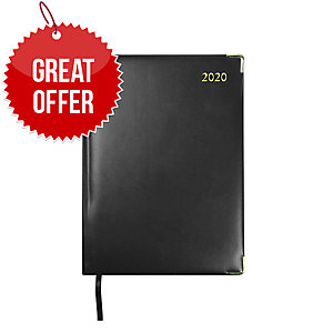 COLLINS CLASSIC A5 EXECUTIVE DIARY BLACK - WEEK TO VIEW