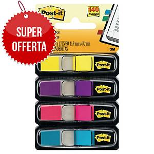 Segnapagina Post-it® Index mini colori vivaci 4 dispenser da 35pz cad