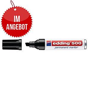 Permanentmarker edding 500, Keilspitze, Strichstärke: 2-7mm, schwarz