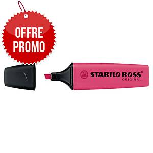 Surligneur Stabilo Boss Original - rose néon
