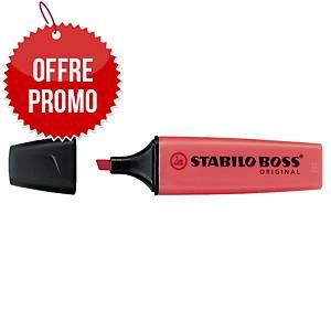 Surligneur Stabilo Boss Original - rouge néon